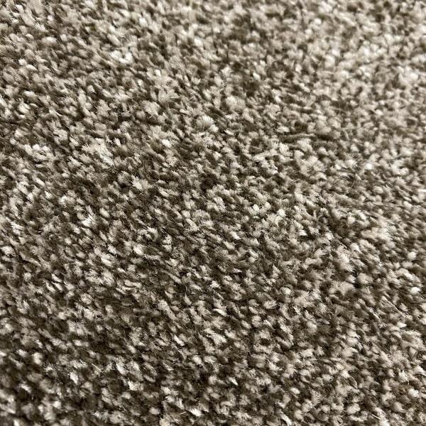 Едноцветен килим - Бела Кафяв - детайл - 2