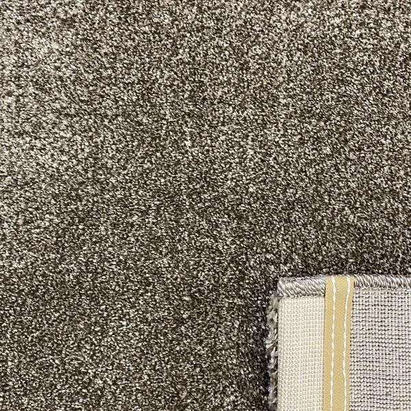 Едноцветен килим - Бела Кафяв - детайл - 3