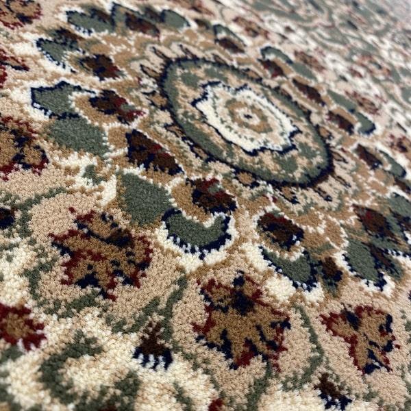 Класически килим – Корона 4306 Зелен - детайл - 2