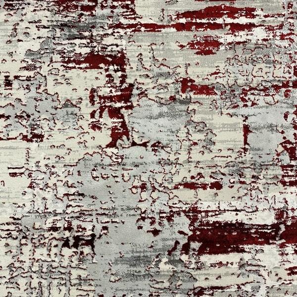 Модерен килим - Алпина 5628 Червен - детайл - 1