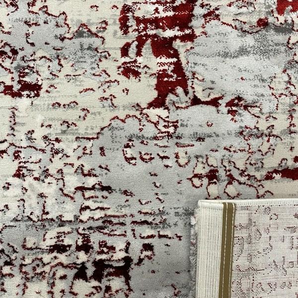 Модерен килим - Алпина 5628 Червен - детайл - 3