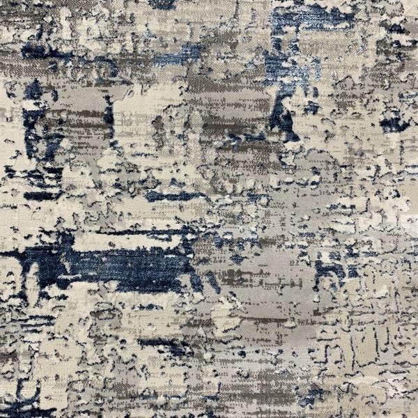 Модерен килим - Алпина 5628 Син - детайл - 1