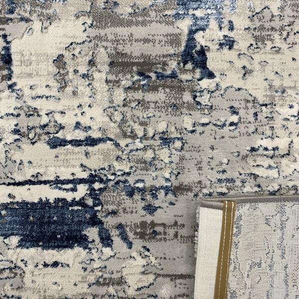 Модерен килим - Алпина 5628 Син - детайл - 3