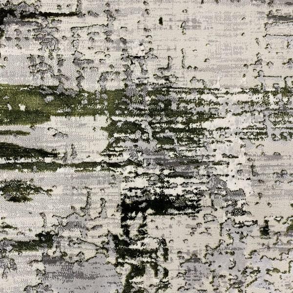 Модерен килим - Алпина 5628 Зелен - детайл - 1