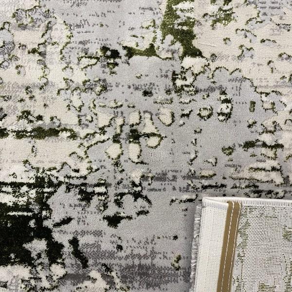 Модерен килим - Алпина 5628 Зелен - детайл - 3