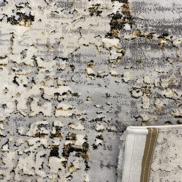 Модерен килим - Алпина 5628 Златен - детайл - 3