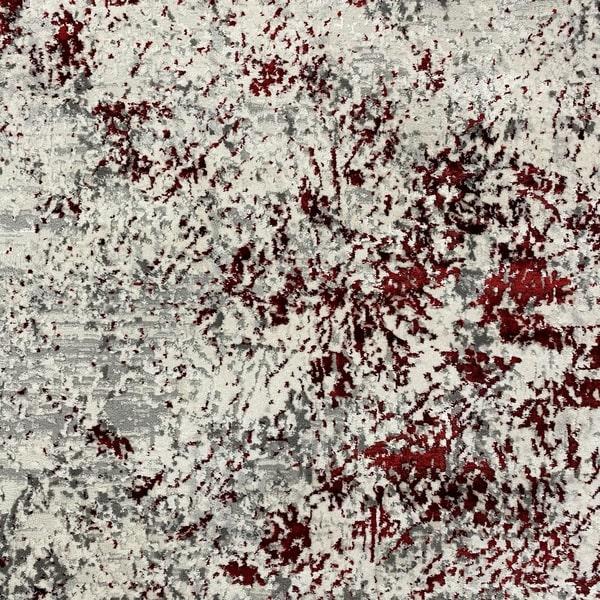 Модерен килим - Алпина 5629 Червен - детайл - 1