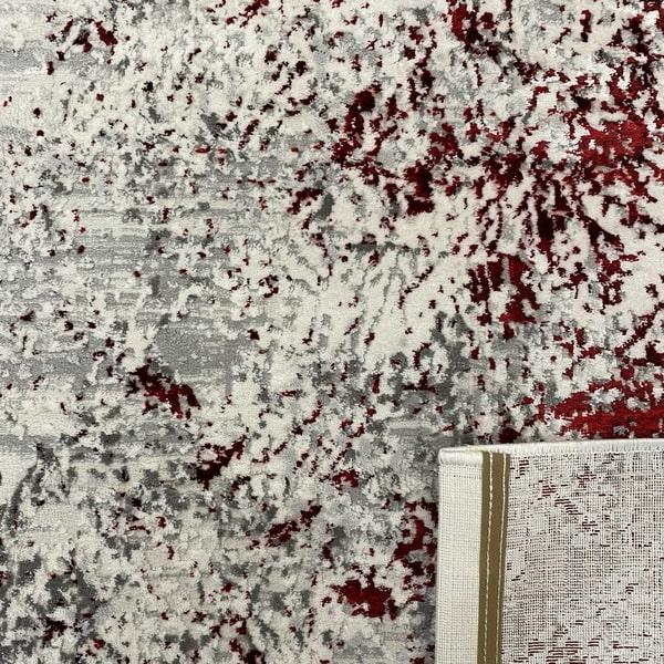 Модерен килим - Алпина 5629 Червен - детайл - 3