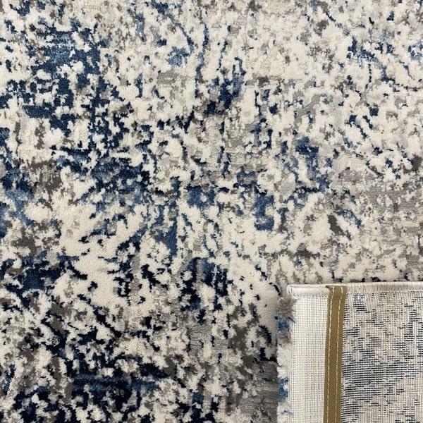Модерен килим - Алпина 5629 Син - детайл - 3