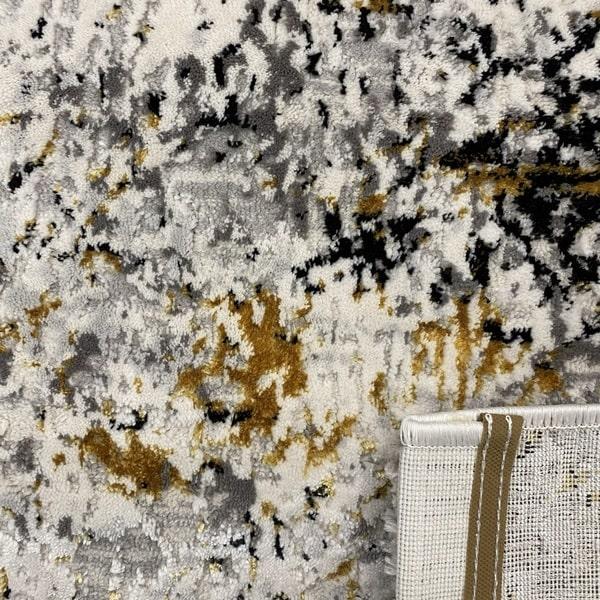Модерен килим - Алпина 5629 Златен - детайл - 3