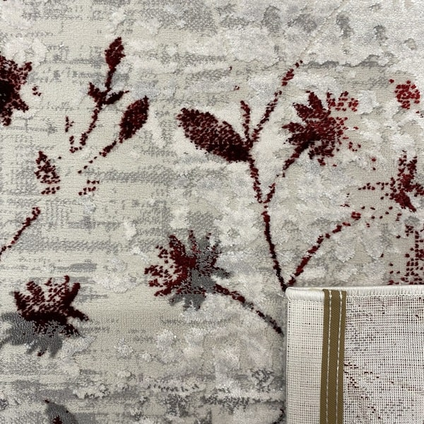 Модерен килим - Алпина 5641 Червен - детайл - 3