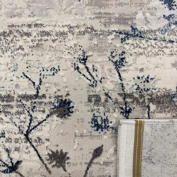 Модерен килим - Алпина 5641 Син - детайл - 3