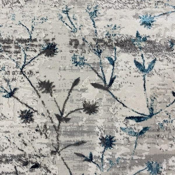 Модерен килим - Алпина 5641 Тюркоаз - детайл - 1