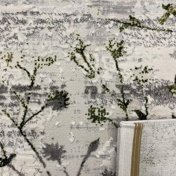 Модерен килим - Алпина 5641 Зелен - детайл - 3