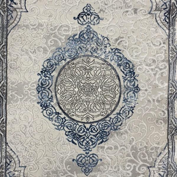 Модерен килим - Алпина 5650 Син - детайл - 1