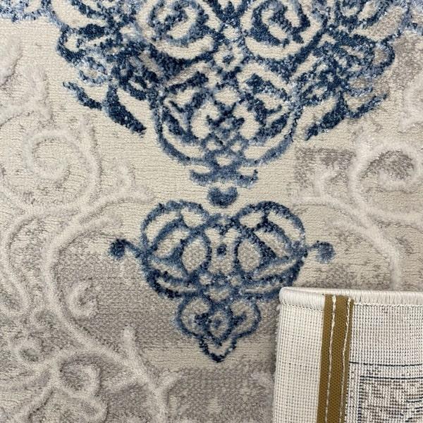 Модерен килим - Алпина 5650 Син - детайл - 3