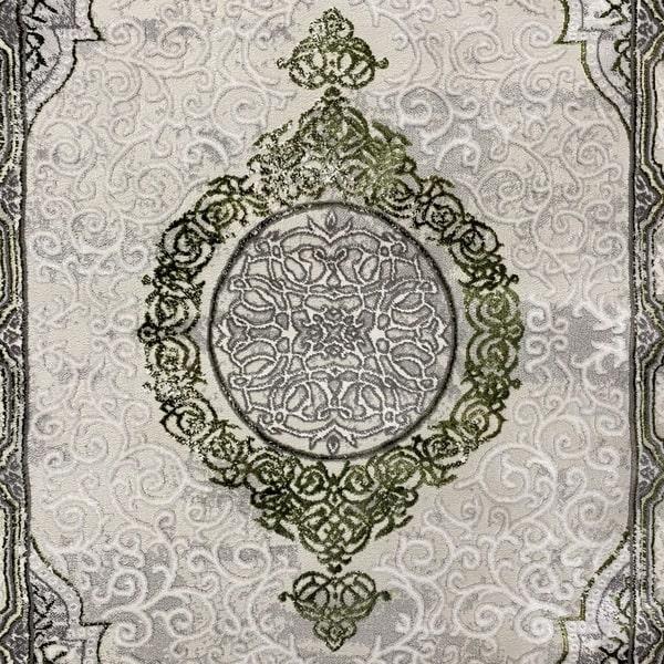 Модерен килим - Алпина 5650 Зелен - детайл 1