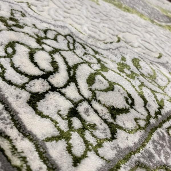 Модерен килим - Алпина 5650 Зелен - детайл 2