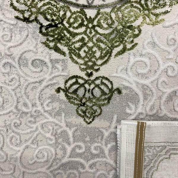 Модерен килим - Алпина 5650 Зелен - детайл 3