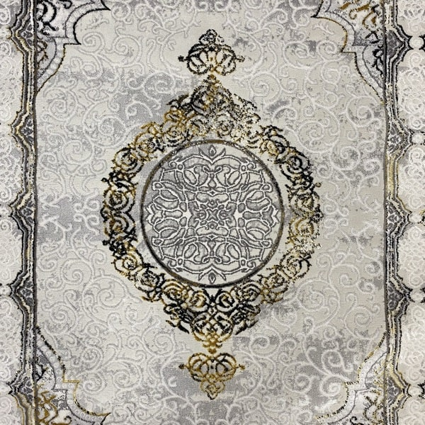 Модерен килим - Алпина 5650 Златен - детайл - 1