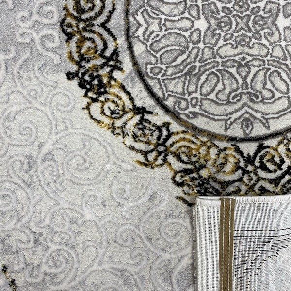 Модерен килим - Алпина 5650 Златен - детайл - 3