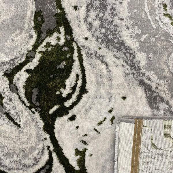 Модерен килим - Алпина 6050 Зелен - детайл - 3