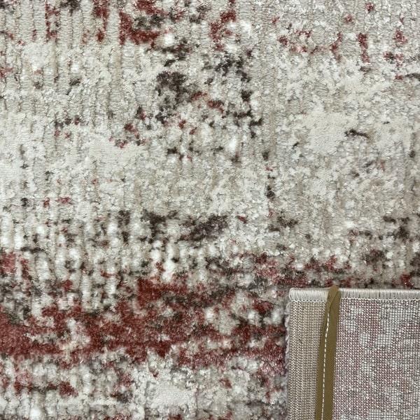 Модерен килим - Атлас 851 Розов/Визон - детайл - 3