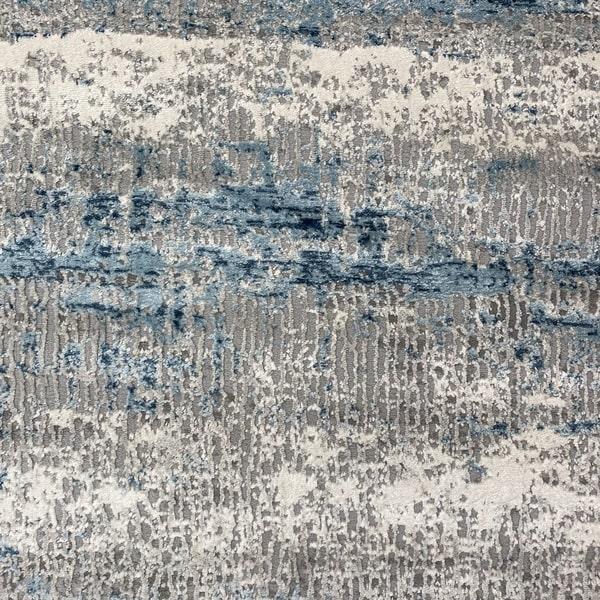 Модерен килим - Атлас 851 Син/Сив - детайл - 1