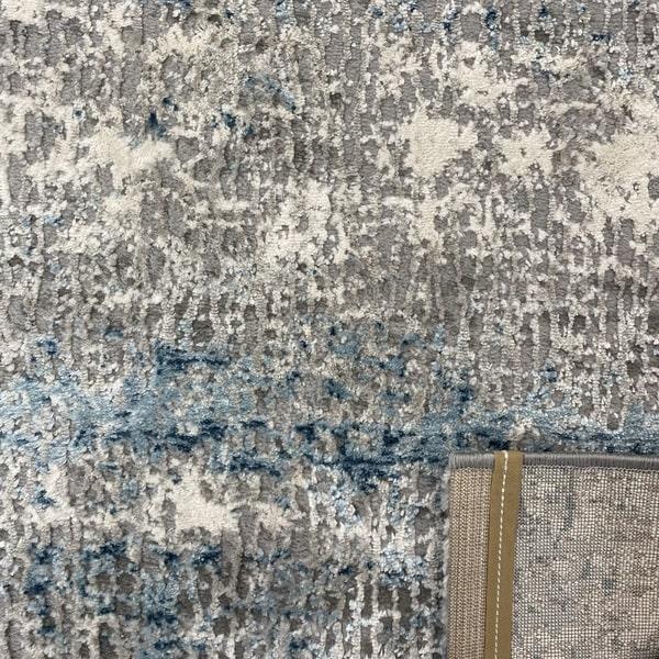Модерен килим - Атлас 851 Син/Сив - детайл - 3