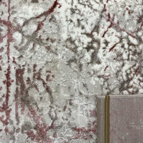 Модерен килим - Атлас 855 Розов/Визон - детайл - 3