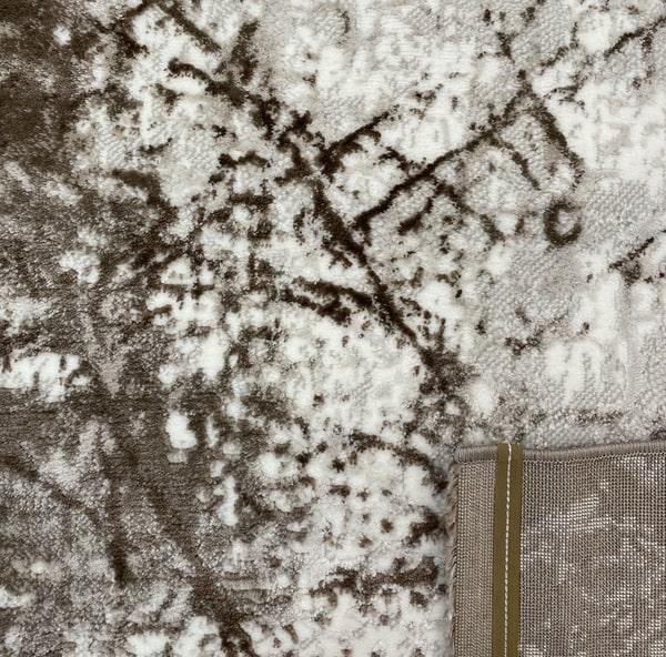 Модерен килим - Атлас 855 Тъмно Кафяв - детайл - 3