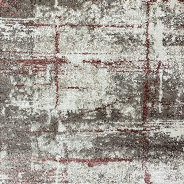Модерен килим - Атлас 878 Розов/Визон - детайл - 1
