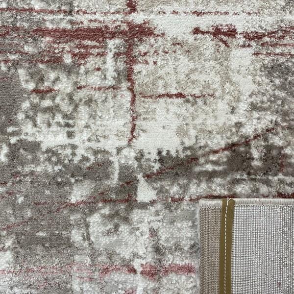 Модерен килим - Атлас 878 Розов/Визон - детайл - 3