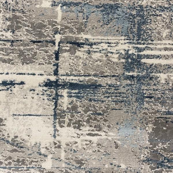 Модерен килим - Атлас 878 Син/Сив - детайл - 1