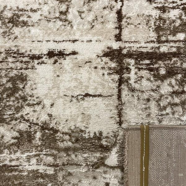 Модерен килим - Атлас 878 Тъмно Кафяв - детайл - 3