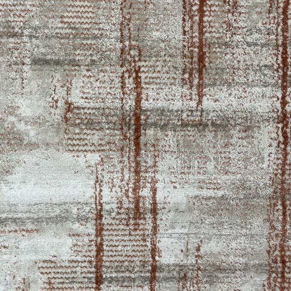 Модерен килим - Атлас 892 Брик/Визон - детайл - 1