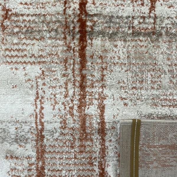 Модерен килим - Атлас 892 Брик/Визон - детайл - 3
