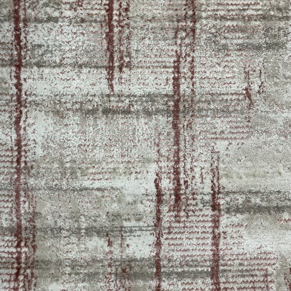 Модерен килим - Атлас 892 Розов/Визон - детайл - 1