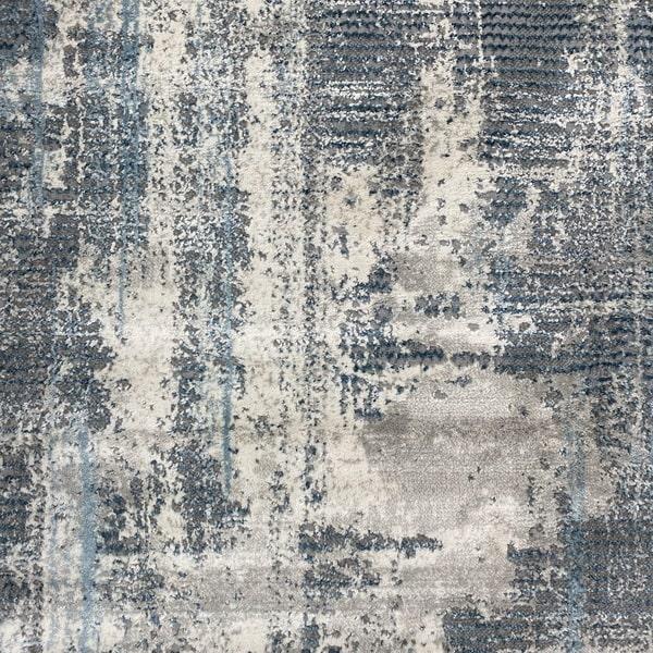 Модерен килим - Атлас 892 Син/Сив - детайл - 1