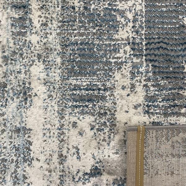 Модерен килим - Атлас 892 Син/Сив - детайл - 3