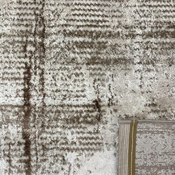 Модерен килим - Атлас 892 Тъмно Кафяв - детайл - 3