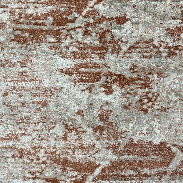 Модерен килим - Атлас 894 Брик/Визон - детайл - 1
