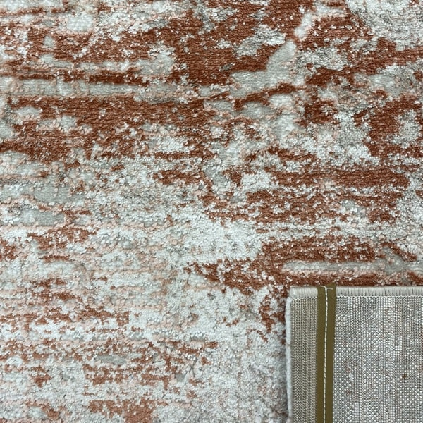 Модерен килим - Атлас 894 Брик/Визон - детайл - 3