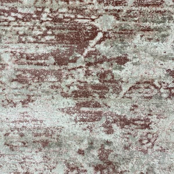 Модерен килим - Атлас 894 Розов/Визон - детайл - 1