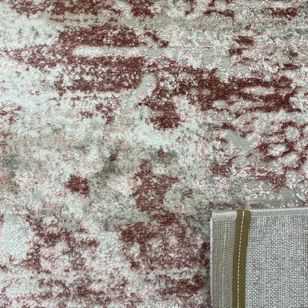 Модерен килим - Атлас 894 Розов/Визон - детайл - 3