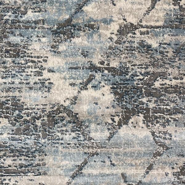 Модерен килим - Атлас 894 Син/Сив - детайл - 1