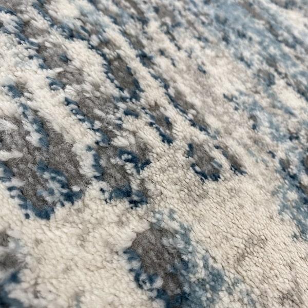 Модерен килим - Атлас 894 Син/Сив - детайл - 2