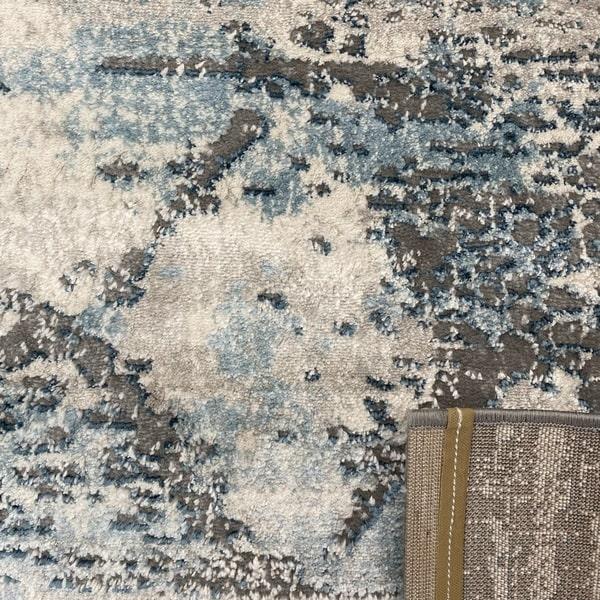 Модерен килим - Атлас 894 Син/Сив - детайл - 3