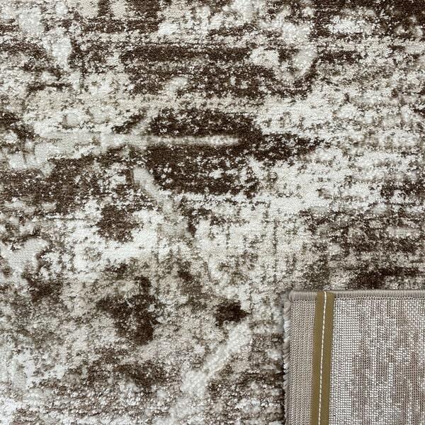 Модерен килим - Атлас 894 Тъмно Кафяв - детайл - 3
