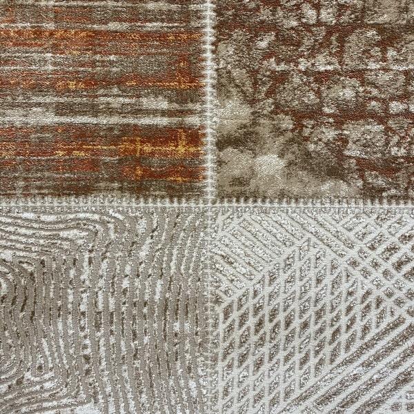 Модерен килим - Лора 7533 Брик - детайл - 1